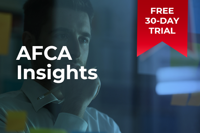 Free 30 day AFCA Insights trial